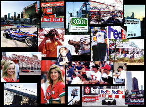 Motor Race Photo Collage